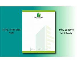 Green Hotel Letterhead Template