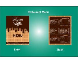 Restaurant Belgian Waffle Menu Design Template - V27