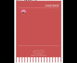 Cake Shop Letterhead