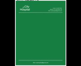 City Hospital Letterhead
