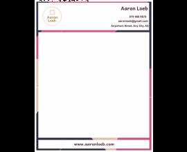 Aaron Loeb Letterhead