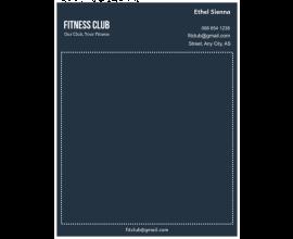 Fitness Letterhead