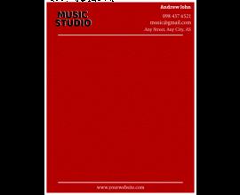 Music Studio Letterhead