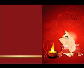 Lord Ganesha Diwali Card