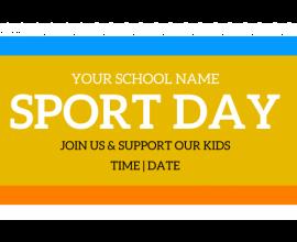 School Sports Day Banner