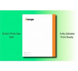 Orange Letterhead Template