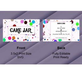 Cake Jar Business Card
