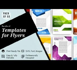 50 Flyer Graphic Design Templates Bundle