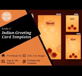 25 Indian Greeting Card Templates Bundle