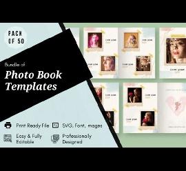 50 Photo Book Templates Bundle