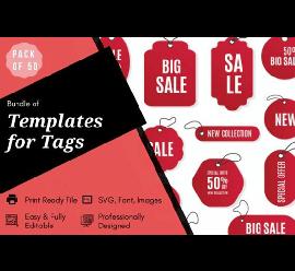 50 Tag Graphic Design Templates Bundle