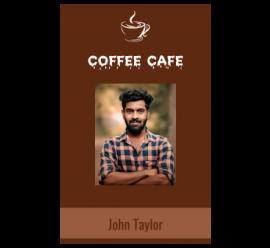 Coffee Cafe I'd Card