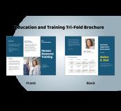 Education and Training Tri-fold Brochure