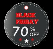 Circle Black Friday Discount Tag