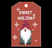 Santa Christmas Tag Template