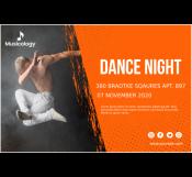 Dance Night Banner Template
