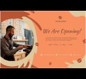 Opening Restaurant Banner Template