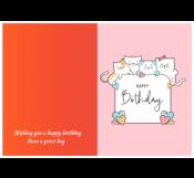 Cute Birthday Card Template