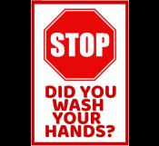 Corona Virus Handwash Sign