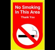 No Smoking Zone Sign