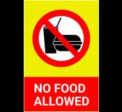 No Food Allowed Signage