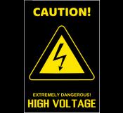 High Voltage Caution Sign