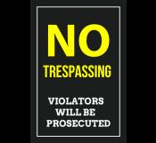 No-trespassing Private Property Signage