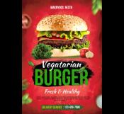 Vegetarian Burger Restaurant Flyer