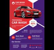 Car Washing Flyer Template