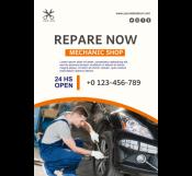 Mechanic Shop Flyer Template