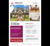 Modern Home Real Estate Flyer