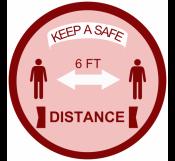 Corona Floor Sign for Distance