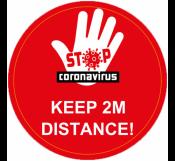 Stop CoronaVirus Floor Sign