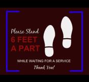 Safe Distance Floor Sign