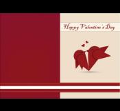 Red Bird Valentine Card Template