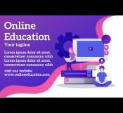 Online Educational Banner