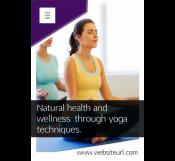Yoga Fitness Class Flyer Template