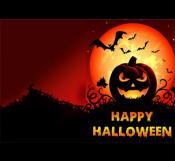 Creepy Halloween Card Template